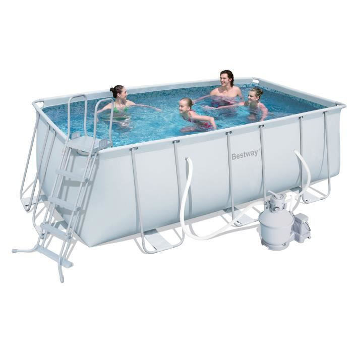 Kit piscine tubulaire rectangulaire filtration achat for Echelle piscine tubulaire