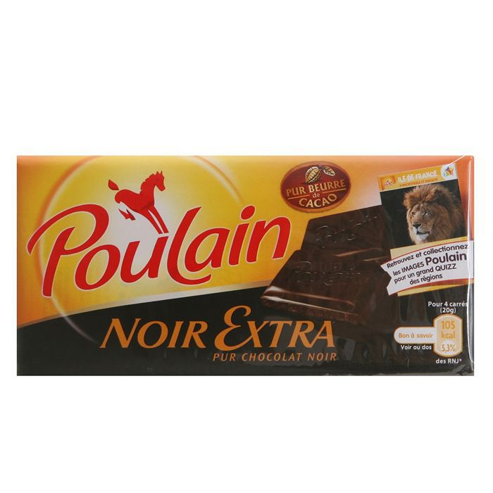 poulain tablette de chocolat noir sup rieur extra 3x100g achat vente tablette choc noir. Black Bedroom Furniture Sets. Home Design Ideas