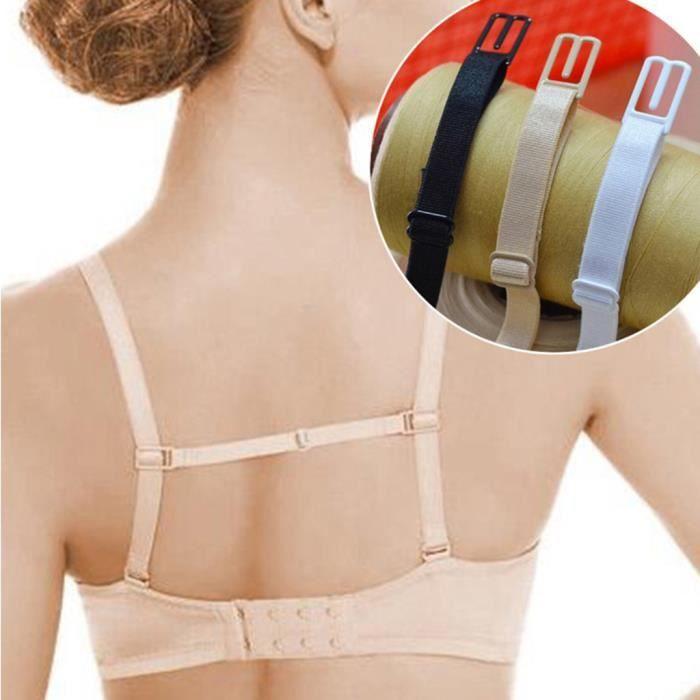 5 paire soutien-gorge Bretelle avec coeur transparent couleur transparent silicone 38 cm x 1cm