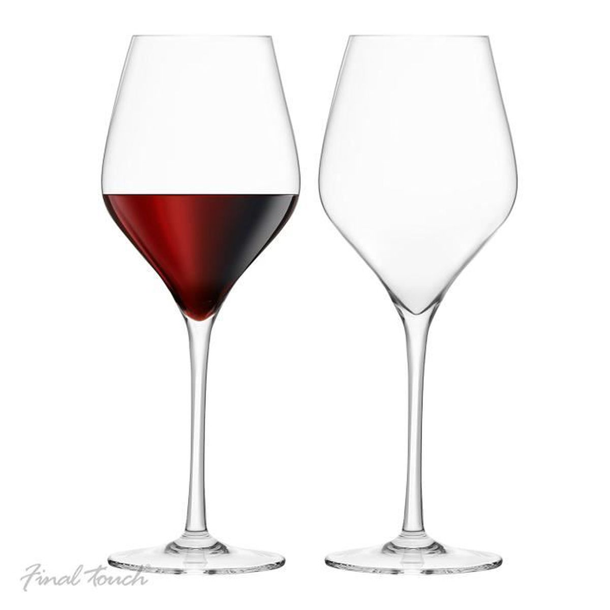 final touch verres vin rouge fabriqu avec du durashield titanium renforc pour une durabilit. Black Bedroom Furniture Sets. Home Design Ideas
