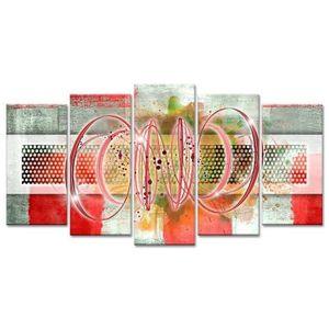 TABLEAU - TOILE Tableau Déco Spirales et Cercles - 150x80 cm