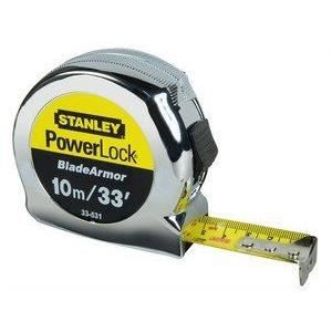 STANLEY M?tre ruban Powerlock rétractable 10m / 25mm