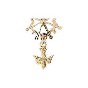 PENDENTIF VENDU SEUL Pendentif Or 1,4 gr Croix Huguenote 18 carats