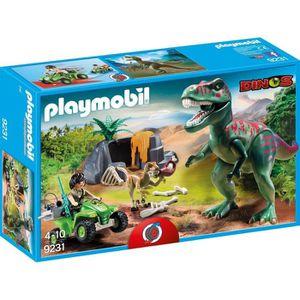 UNIVERS MINIATURE PLAYMOBIL 9231 Explorateur avec dinosaure T-Rex