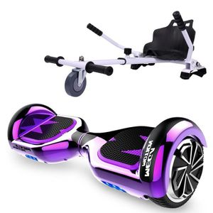 ACCESSOIRES GYROPODE - HOVERBOARD Pack Hoverkart Blanc+MegaMotion Scooter 2 Roues Vi