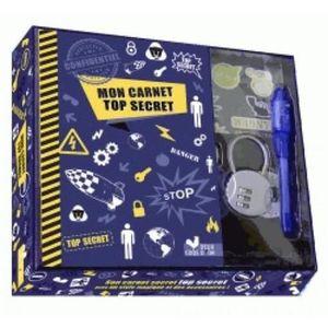 LIVRE 0-3 ANS ÉVEIL Livre - carnet top secret ; coffret avec accessoir