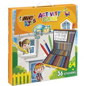 FEUTRES BIC 961558 Mallette de Coloriage - 24 Crayons de C