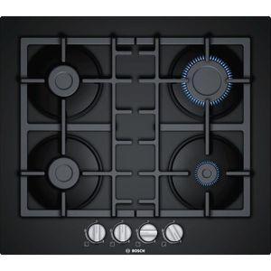 PLAQUE GAZ Bosch - table cuisson gaz 60cm 4 feux noir - pnp6b