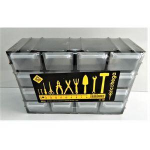 BAC DE RANGEMENT OUTILS petit Casier de rangement noir plastique Boite 21,