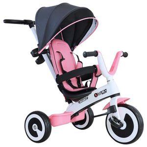 TRICYCLE Tricycle enfant évolutif pare-soleil pliable canne