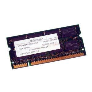 MÉMOIRE RAM 512Mo RAM PC Portable SODIMM Infineon HYS64D64020G