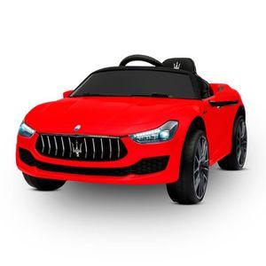 VOITURE ELECTRIQUE ENFANT Maserati Ghibli Voiture Electrique pour Enfant Rou
