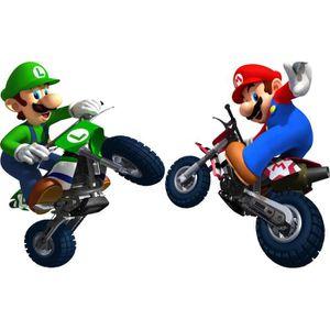 STICKERS Stickers muraux enfant Super Mario moto 60*90cm