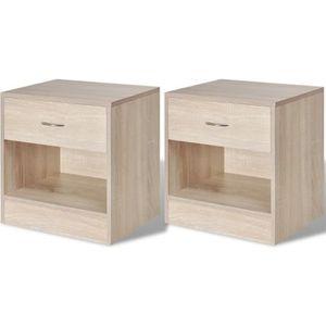 CHEVET 2 pcs Table de chevet avec tiroir Table de nuit Me