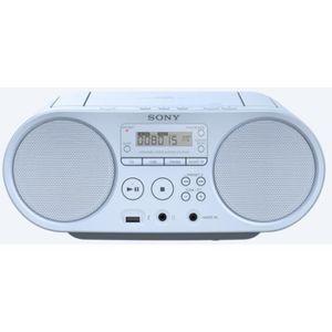 BALADEUR CD - CASSETTE SONY ZSPS50W - Boombox CD USB - AM-FM - Blanc