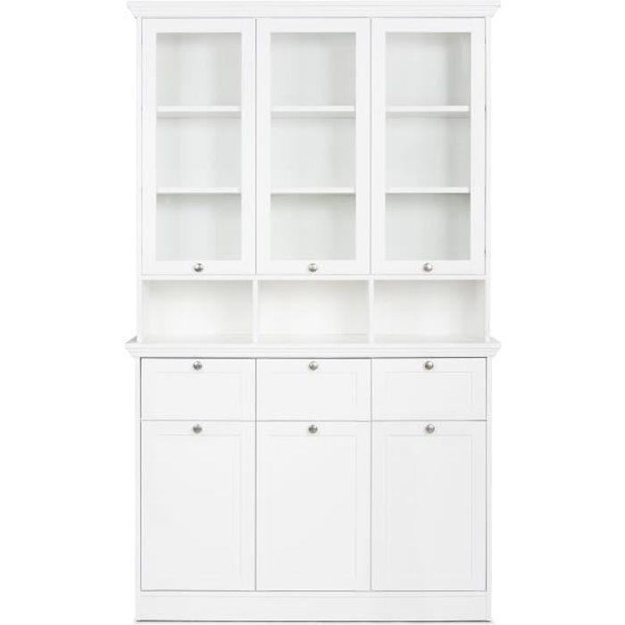 BUFFET - BAHUT  LANDWOOD Vaisselier classique - Blanc - L 120 cm
