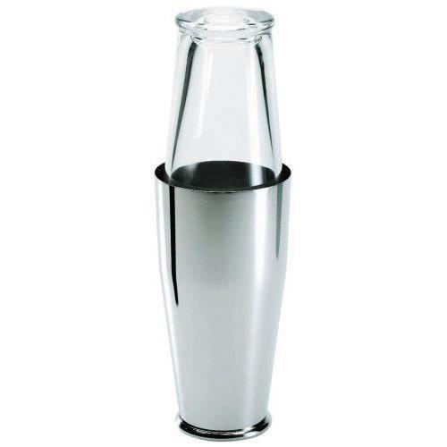 Alessi A di Shaker en verre et acier inoxydable 18/10 - Satiné - 5050