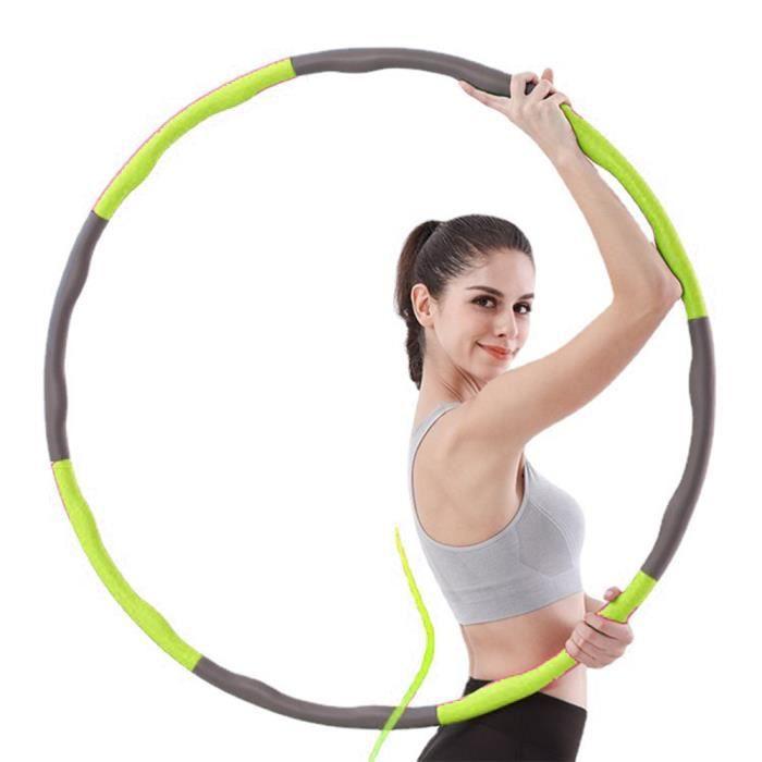 Hoop Cerceaux - 8 pièces emboîtables - Anneau de fitness stable pour adultes et adolescents,vert