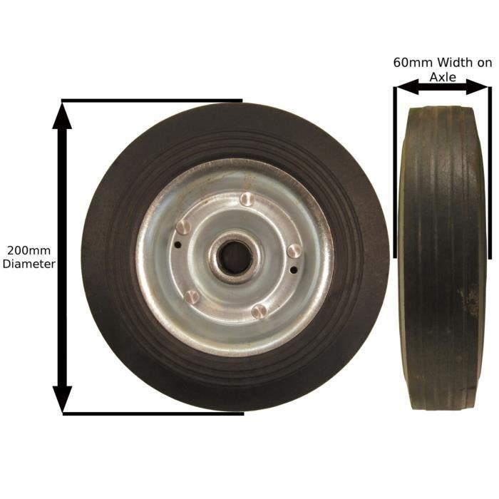 Remplacement de l'acier 200 mm Roue jockey TR020