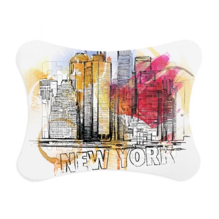new york, États - unis d'amérique le dessin document cadre puzzle game de décoration d'intérieur cartes cadeaux.