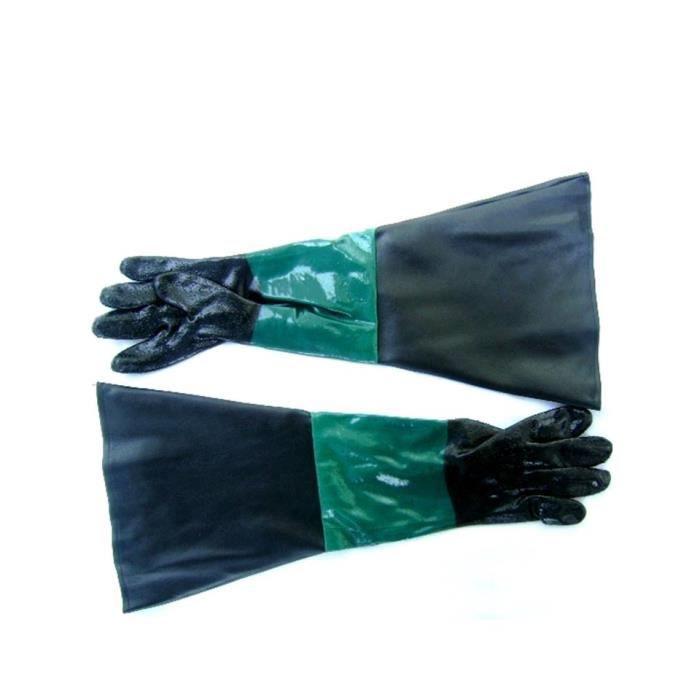 Paire de gants sablage 61cm pour microbilleuse sab