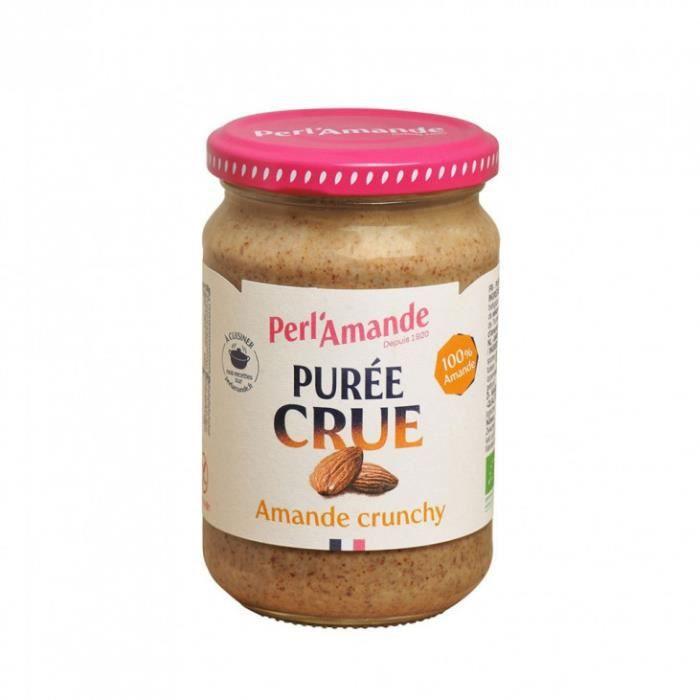 Perl'Amande - Purée crue crunchy 100% amande complète 300gr