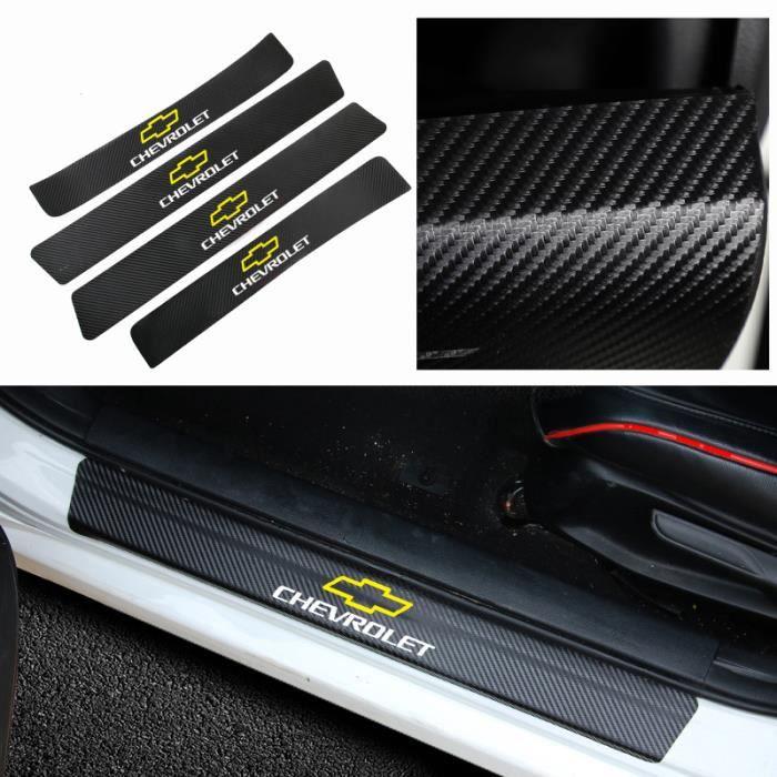 4 pièces en Fiber de carbone seuil de seuil de voiture autocollants seuil pour Chevrolet Cruze Captiva - Modèle: Or - ANQCCTB09049