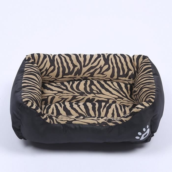 Tapis d'hiver doux pour chat, carré chaud pour animal de compagnie, lit pour chien, respirant, p Tiger stripes XXL 95cm -CLAT12383