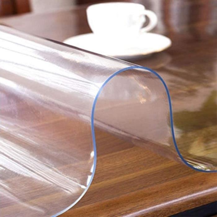 Nappe De Table Deirdre Agnes Nappe PVC impermeacuteable Transparent Table agrave Manger Tapis de Protection Salon Table Basse Na238
