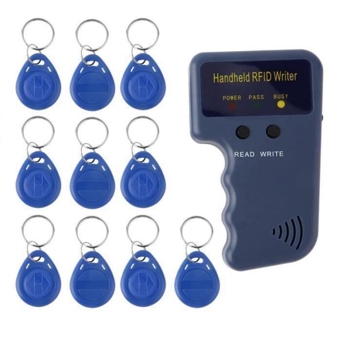 1 ensemble de lecteurs RFID de haute qualité graveur portable de copieur pour le bureau d'écriture de BADGE RFID - CARTE RFID
