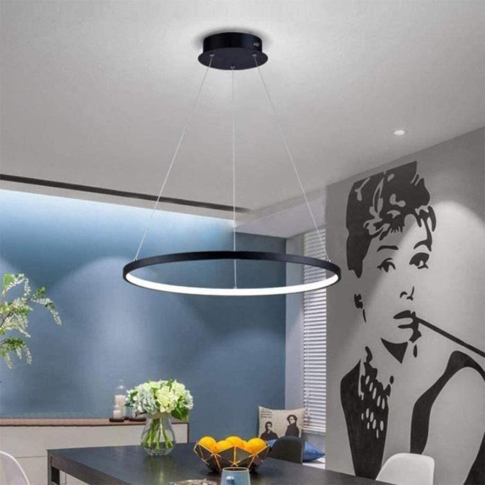 Suspensions Moderne LED Suspension Lustre Suspendue Lampe Anneau Acrylique Abat-Jour Luminaire Bricolage Plafonnier Hauteur R&ea1188