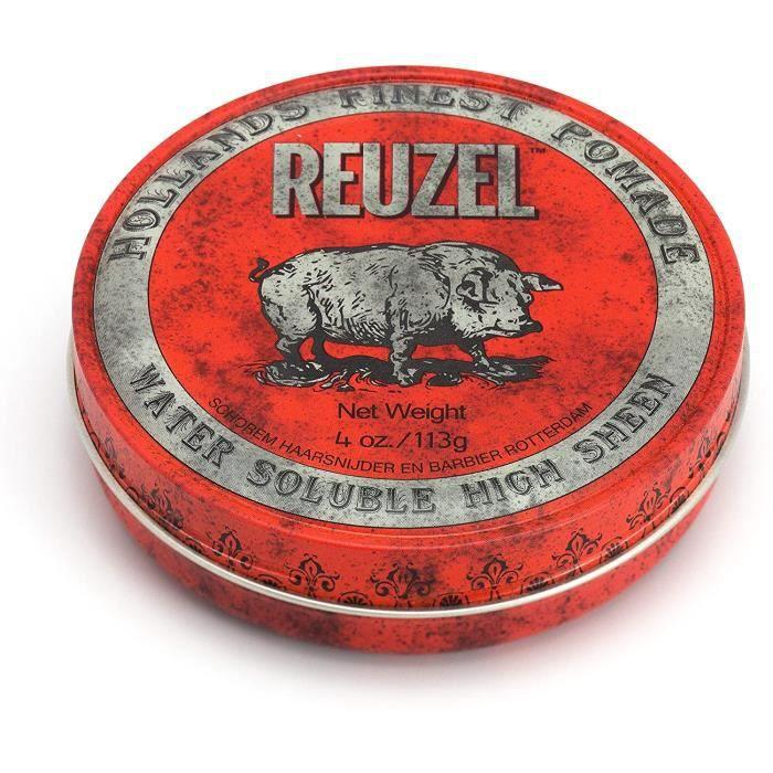 Reuzel Pommade à Haute Brillance Soluble à l'Eau Rouge pour Homme Parfum de Vanille Cola 4 oz-113 g 134
