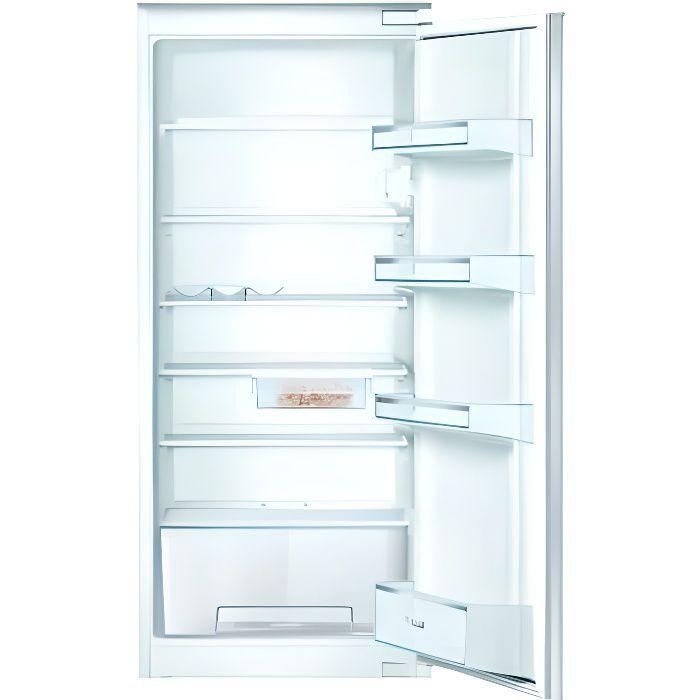BOSCH KIR24NSF2 Réfrigérateur 1 porte intégrable - 221L - SER2 - Classe énergie A++ - 122x56cm - Blanc