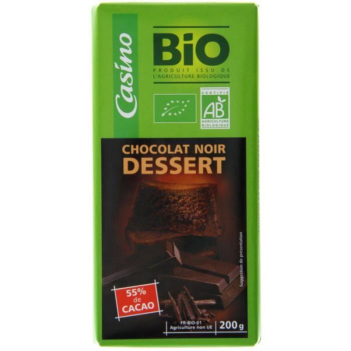 Choc.nr dessert 200g co bio
