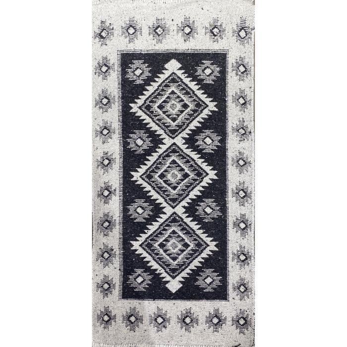 HOME DECO - Tapis Kilim Double Face - 140 x 200 cm - NOIR