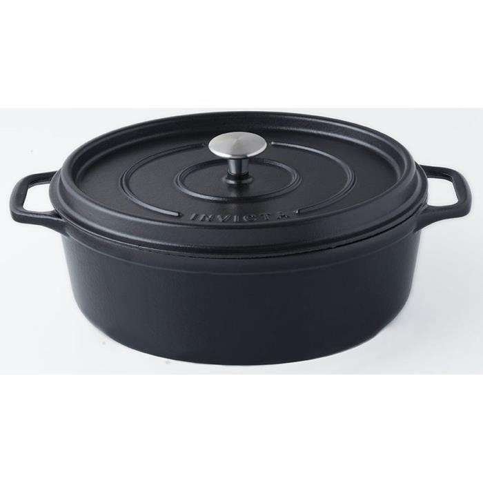 INVICTA Cocotte ovale - Ø 31 cm - Noir - Tous feux dont induction