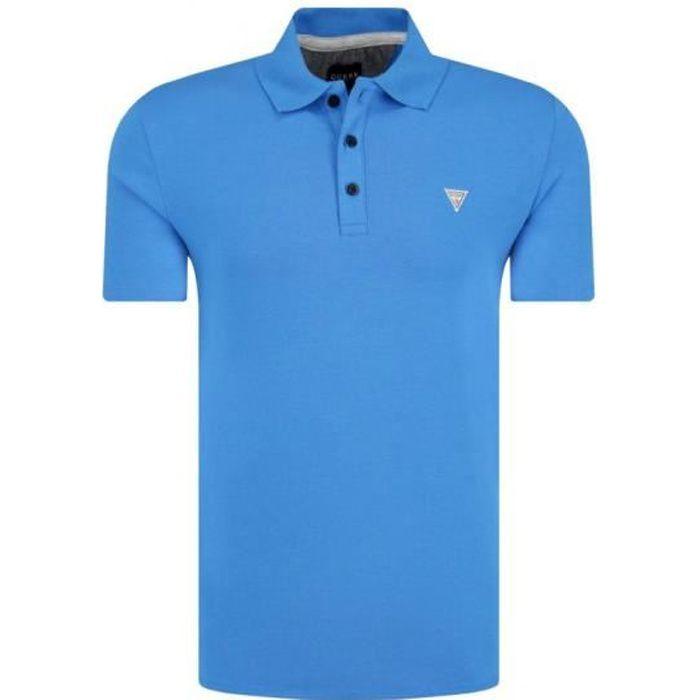Guess Polo Homme DUANE M92P18 Bleu Royal - Taille - L
