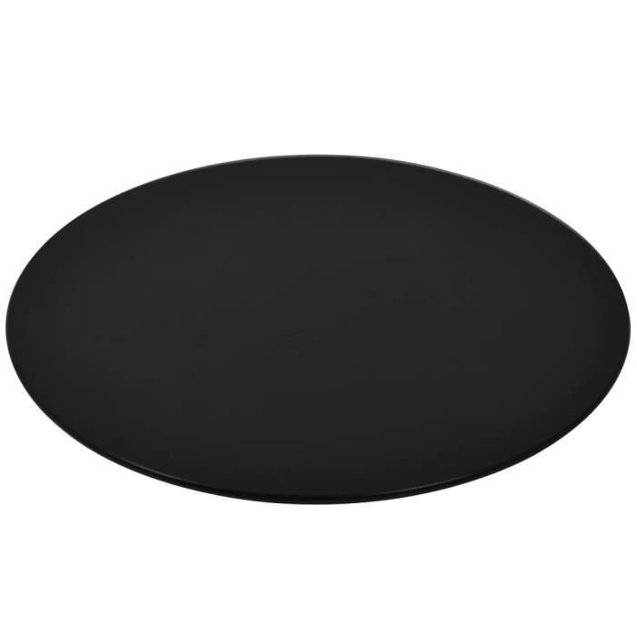 Dessus de table-Plateaux de table rond Verre trempé 500 mm