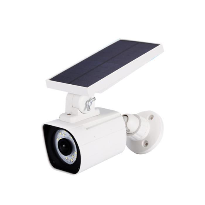 1 lumière LED de lampe de caméras de simulation à énergie solaire PC pour KIT CAMERA DE SURVEILLANCE - PACK VIDEOSURVEILLANCE