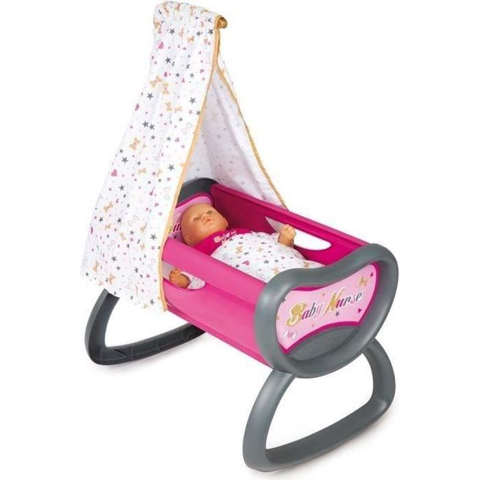SMOBY Baby Nurse Bercelonnette - Lit à Bascule