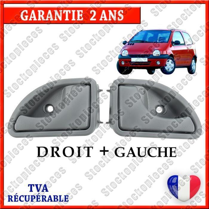 LOT X 2 POIGNEE DE PORTE AVANT GAUCHE + AVANT DROITE COMPATIBLE RENAULT TWINGO 93-07 / KANGOO 98-10 / / / GRISE