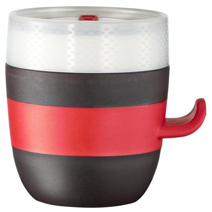Tefal Quick range Ingenio K20502, Universel, Unique, 0,5 L, Noir, Rouge, Blanc, Céramique, 133 mm