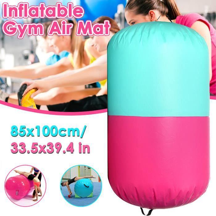 TEMPSA Tapis Gonflable Rouleau Gymnastique Yoga PVC 100x85cm Facile À Transporter ET Excellente Étanchéité À L'air
