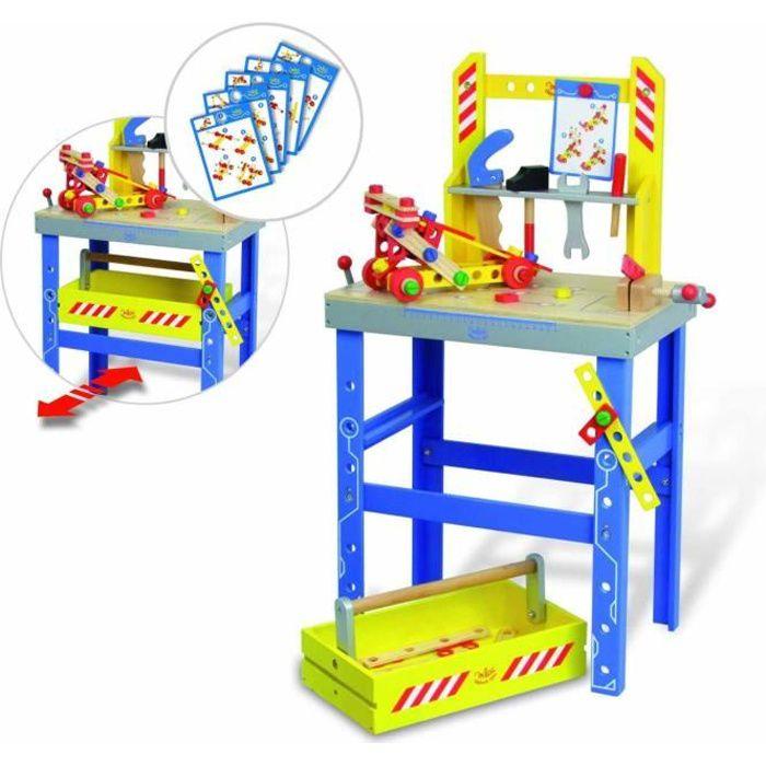 VILAC Grand établi Batibloc et son tiroir/boite à outils