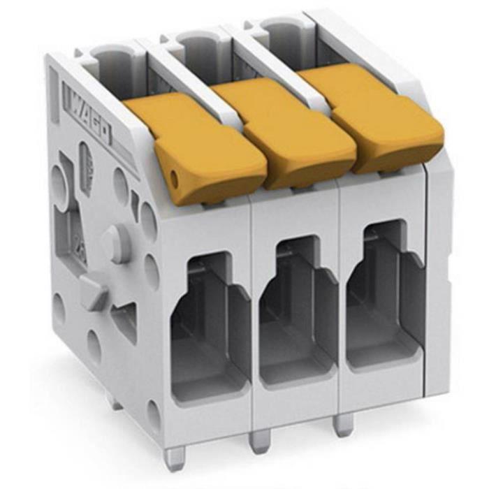 Borne pour circuits imprimés WAGO 2604-1104 4 mm² Nombre de pôles 4 1 pc(s)