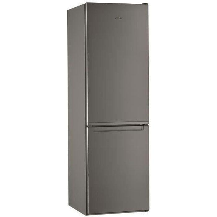 WHIRLPOOL W5811EOX1 - Réfrigérateur 339 L (228 + 111) - Froid statique - Posable - Classe A+ - 59,5 x 188,8 cm - Inox
