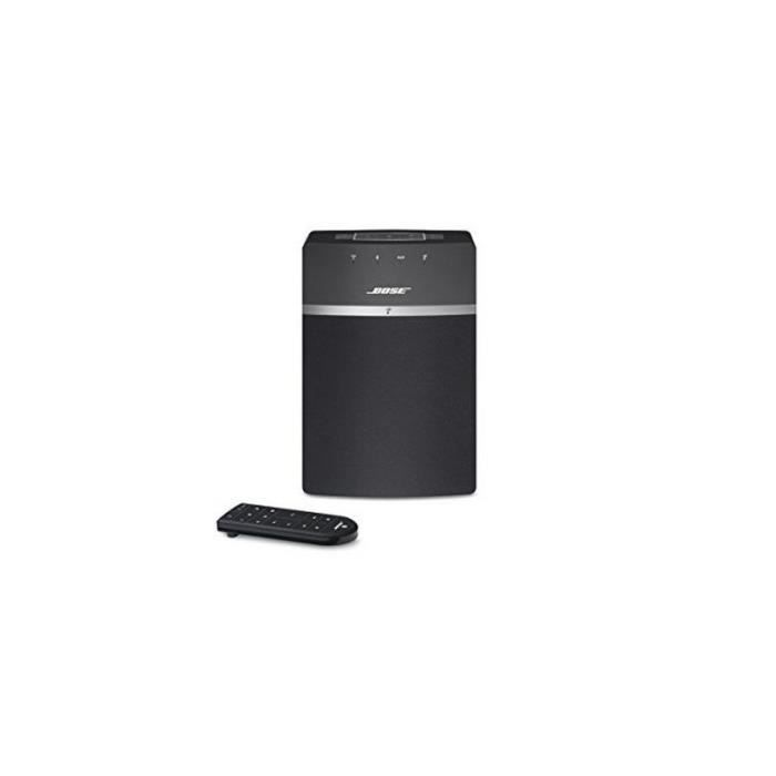 haut parleur bose soundtouch 10 bluetooth wifi noir enceinte nomade avis et prix pas cher. Black Bedroom Furniture Sets. Home Design Ideas