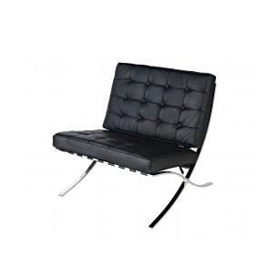 chaise barcelona ludwig mies van der rohe achat vente chaise cuir cdiscount. Black Bedroom Furniture Sets. Home Design Ideas