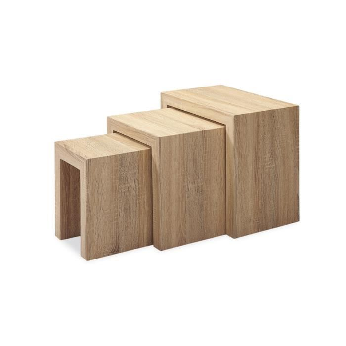 table basse gigognes en bois trio achat vente table. Black Bedroom Furniture Sets. Home Design Ideas