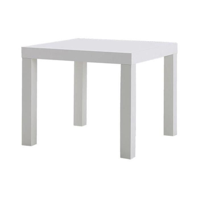 Ikea Lack Table D Appoint Blanche Bois Blanc 45 X 55 X 55